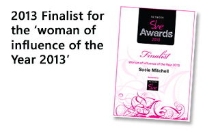 Nominated for Woman of Influence of the Year 2013