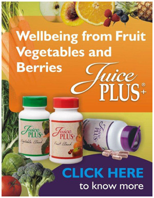 Jucie+ whole food nutrition, stay healthy with your daily allowance of fruit and vegetables Dr Susie Mitchell recommends